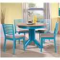 Canadel Custom Dining <b>Customizable</b> Round Table Set - Item Number: TRN424+4xCHA5031