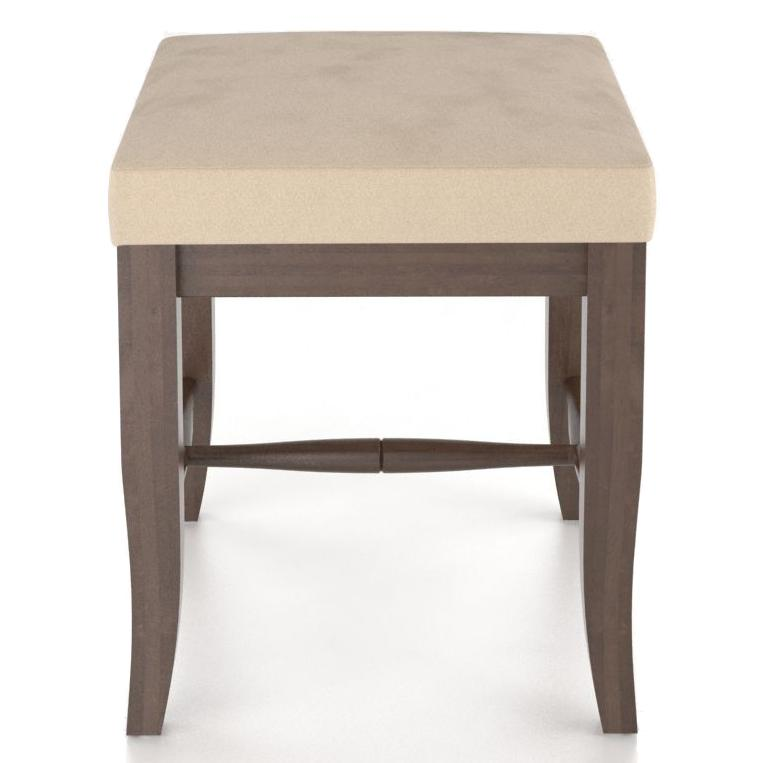 """Custom Dining <b>Customizable</b> Upholstered Bench, 20"""" by Canadel at Saugerties Furniture Mart"""