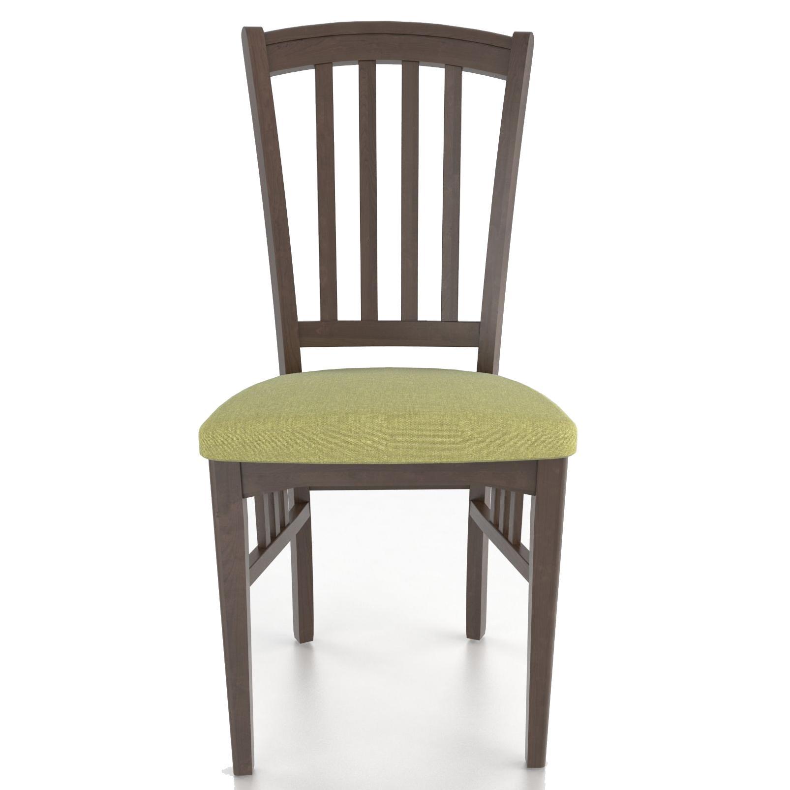 Custom Upholstered Side Chair: Canadel Custom Dining CNN00048TJ29MNA Customizable Slat