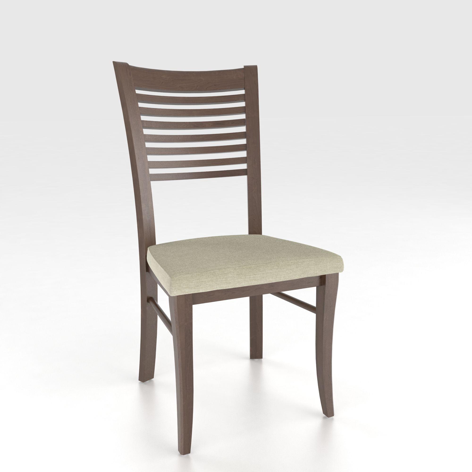 Custom Upholstered Side Chair: Canadel Custom Dining Customizable Ladderback Upholstered