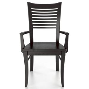 Canadel Custom Dining <b>Customizable</b> Armchair - Wood Seat
