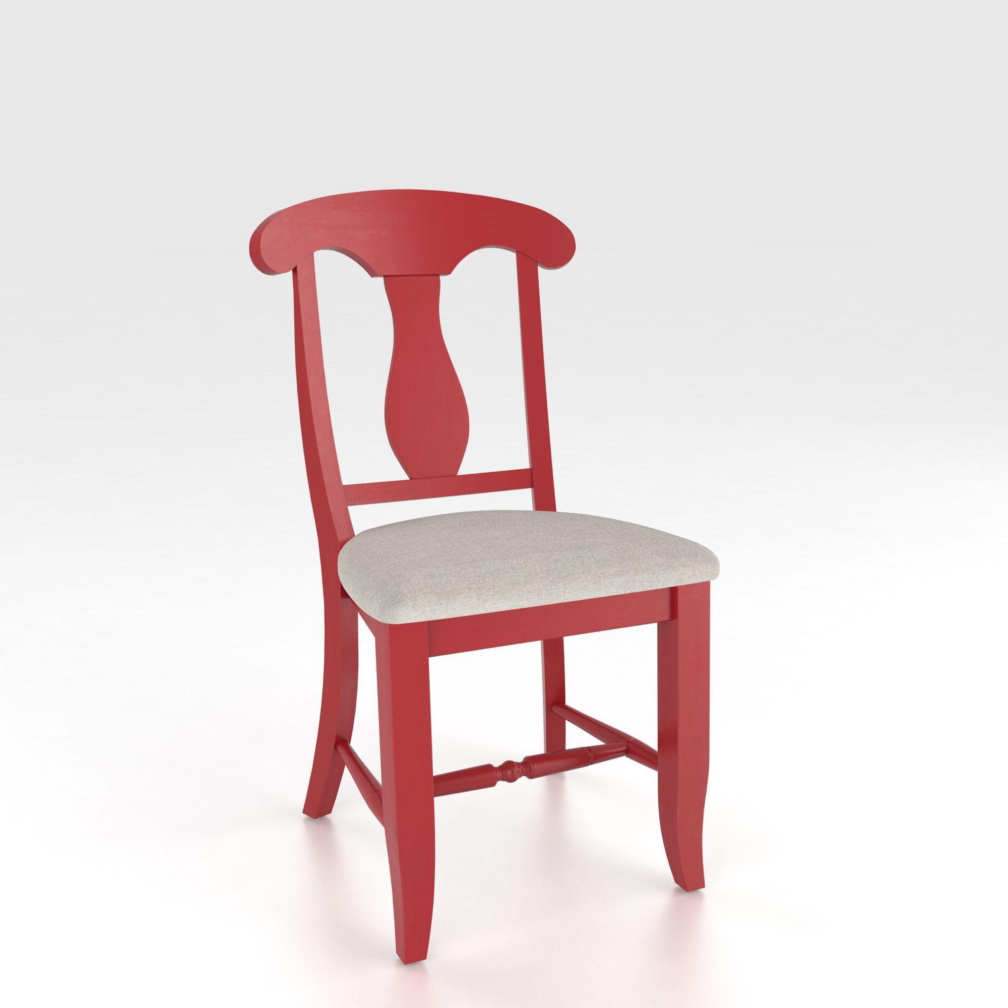 Custom Upholstered Side Chair: Canadel Custom Dining CHA 0600-PC Customizable Splat Back