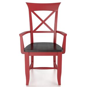 <b>Customizable</b> Arm Chair - Wood Seat
