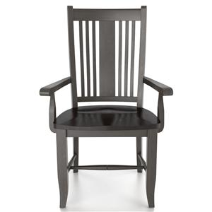 Canadel Custom Dining <b>Customizable</b> Arm Chair - Wood Seat