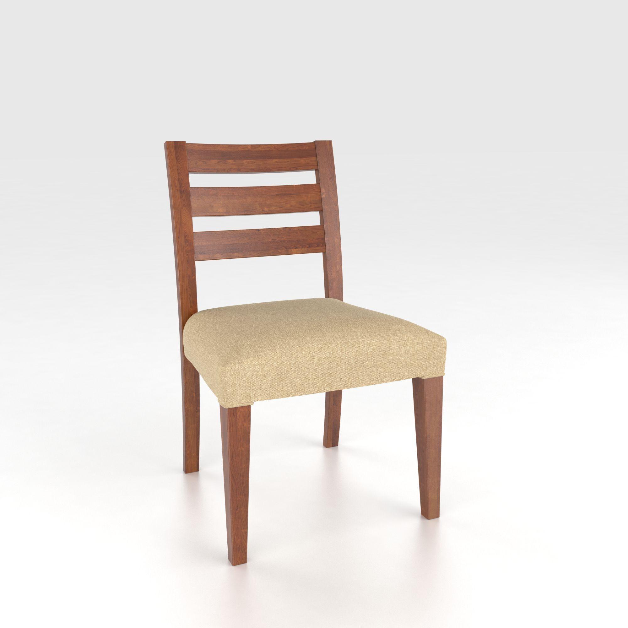 Custom Upholstered Side Chair: Canadel Custom Dining CNN05039UB11MNA Customizable