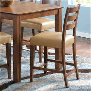 "Canadel Custom Dining - High Dining <b>Customizable</b> 24"" Fixed Bar Stool"