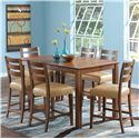 Canadel Custom Dining - High Dining <b>Customizable</b> Counter Height Table Set - Item Number: TRE3668+6xSTO8039