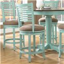 "Canadel Custom Dining - High Dining Customizable 24"" Upholstered Swivel Stool - Item Number: STO08229UE75M24S"