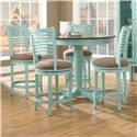 Canadel Custom Dining - High Dining <b>Customizable</b> Round Counter Table Set - Item Number: TRN4242+4xSTO8229