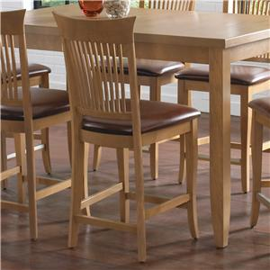 "Canadel Custom Dining - High Dining Customizable 24"" Upholstered Fixed Stool"