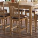"Canadel Custom Dining - High Dining Customizable 24"" Upholstered Fixed Stool - Item Number: STO08270ZA20M24F"