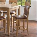 "Canadel Custom Dining - High Dining Customizable 24"" Upholstered Fixed Stool - Item Number: STO08274ZA20M24F"