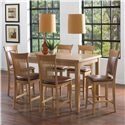 Canadel Custom Dining - High Dining Customizable Counter Height Table Set - Item Number: TRE3648+2xSTO8270+4xSTO8270