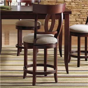 "Canadel Custom Dining - High Dining Customizable 24"" Upholstered Swivel Stool"