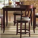Canadel Custom Dining - High Dining <b>Customizable</b> Square Counter Table - Item Number: TSQ036362424MNLTF