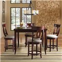 Canadel Custom Dining - High Dining <b>Customizable</b> Counter Height Table Set - Item Number: TSQ3636+4xSTO8100
