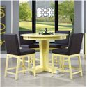 Canadel Custom Dining - High Dining <b>Customizable</b> Counter Table Set - Item Number: TRN4848+4xSTO8002