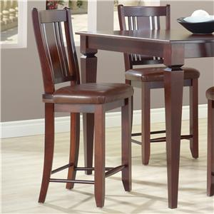 "Canadel Custom Dining - High Dining <b>Customizable</b> 24"" Fixed Stool"