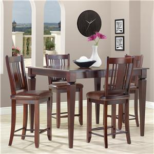 Canadel Custom Dining - High Dining <b>Customizable</b> Square Counter Table Set