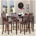 Canadel Custom Dining - High Dining <b>Customizable</b> Square Counter Table Set - Item Number: TSQ4848+4xSTO2250