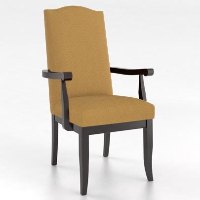 Core - Custom Dining Customizable Upholstered Arm Chair by Canadel at Dinette Depot