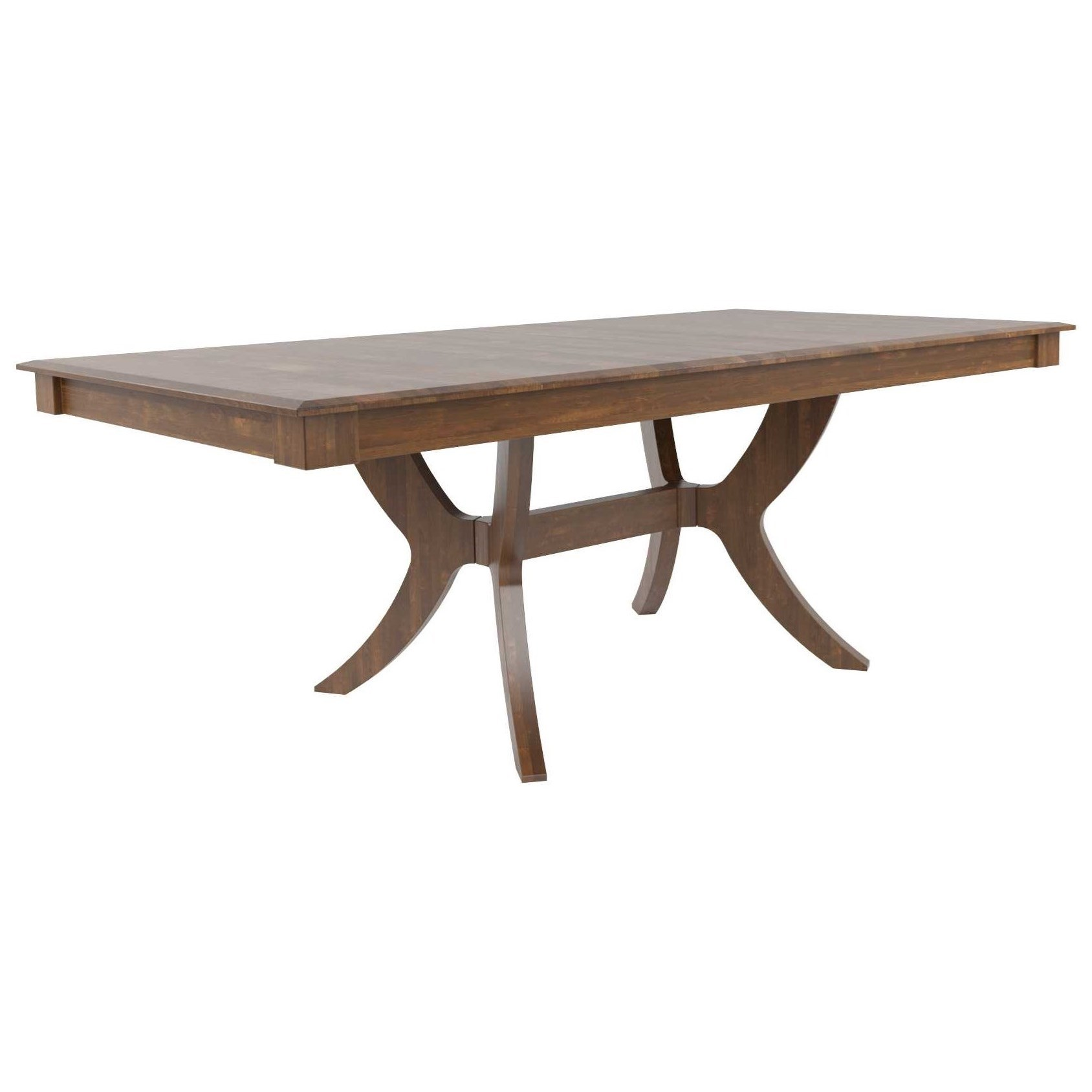 Core - Custom Dining Customizable Rectangular Dining Table by Canadel at Dinette Depot