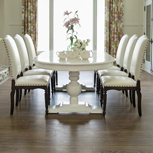 Customizable Oval Dining Table Set