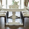 Canadel Custom Dining Customizable Oval Dining Table - Item Number: TOV048885151GXTBF+BAS