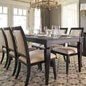 Canadel Custom Dining Customizable Rectangular Dining Table Set - Item Number: TRE03880+6xCNN05010