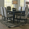 Canadel Custom Dining Customizable Rectangular Dining Table Set - Item Number: TRE04268+2xCAN0310C+4xCNN0310C
