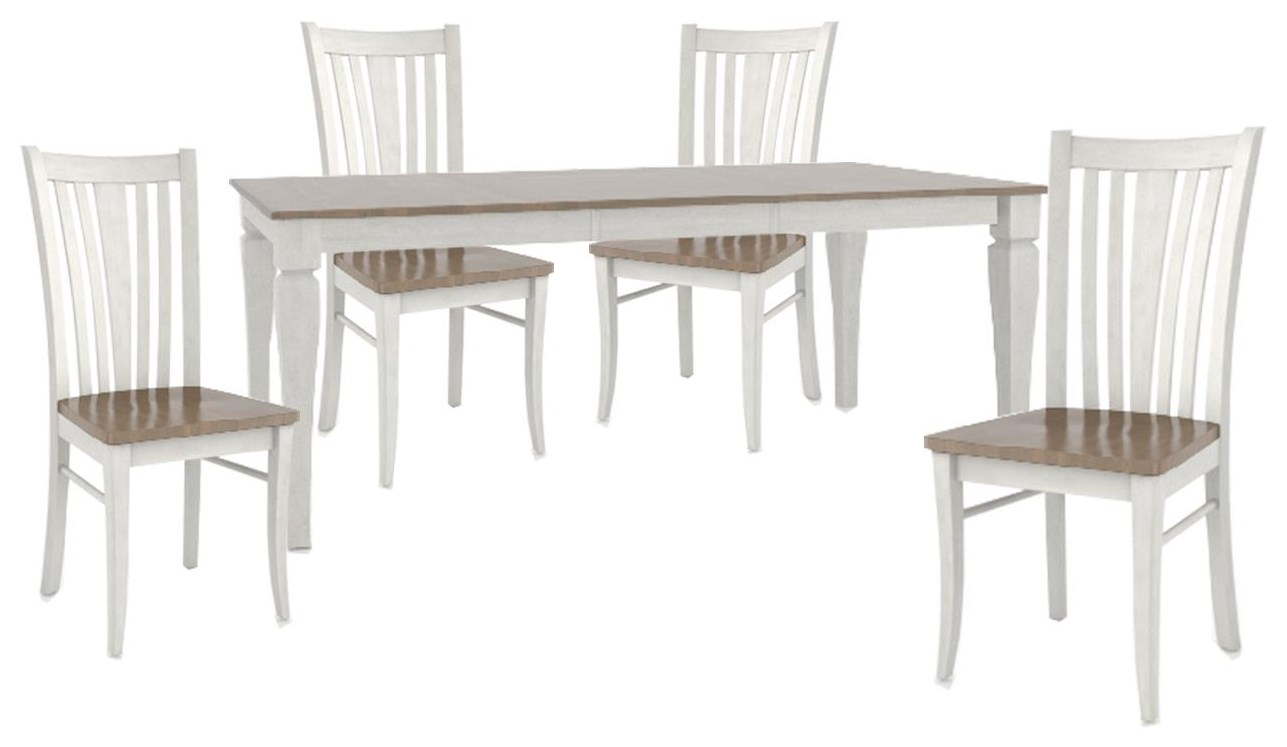 """Custom Dining Tables 38"""" X 60"""" TABLE And 4 SIDE CHAIRS by Canadel at Johnny Janosik"""