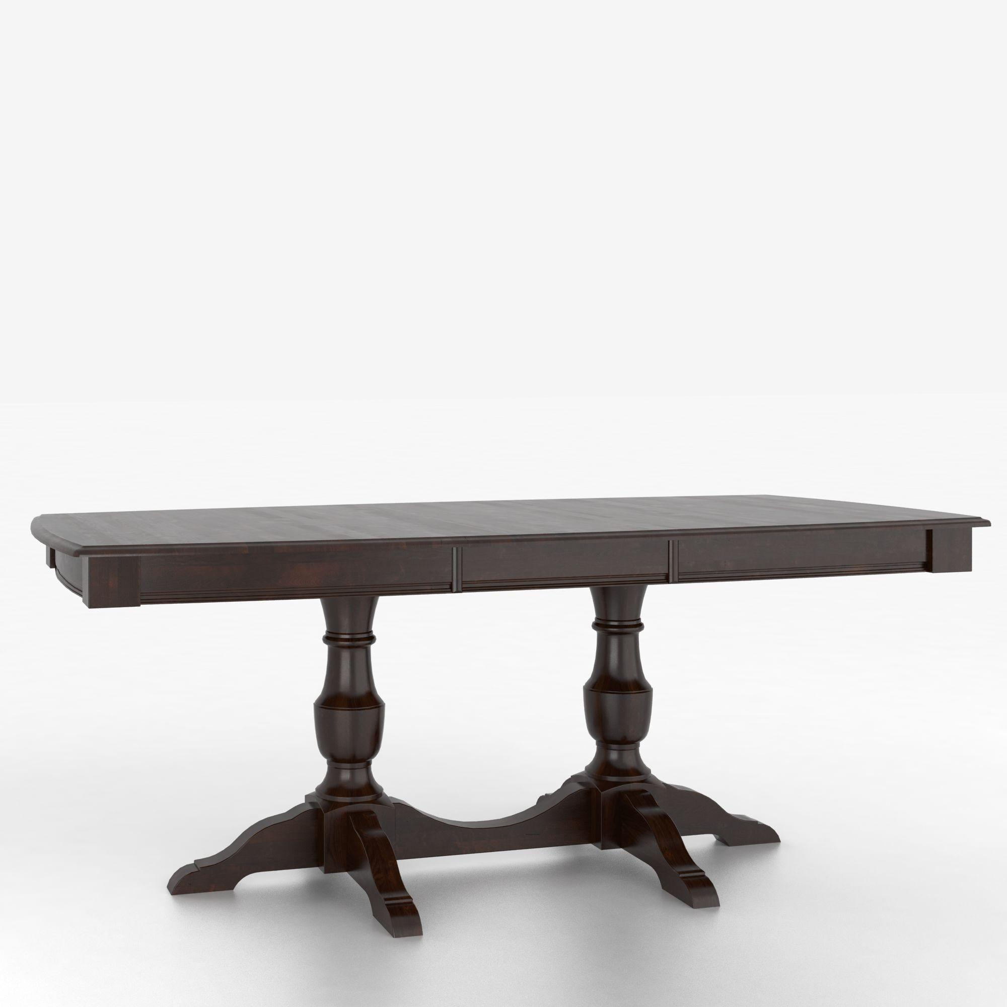 Customizable Boat Shape Table with Pedestal