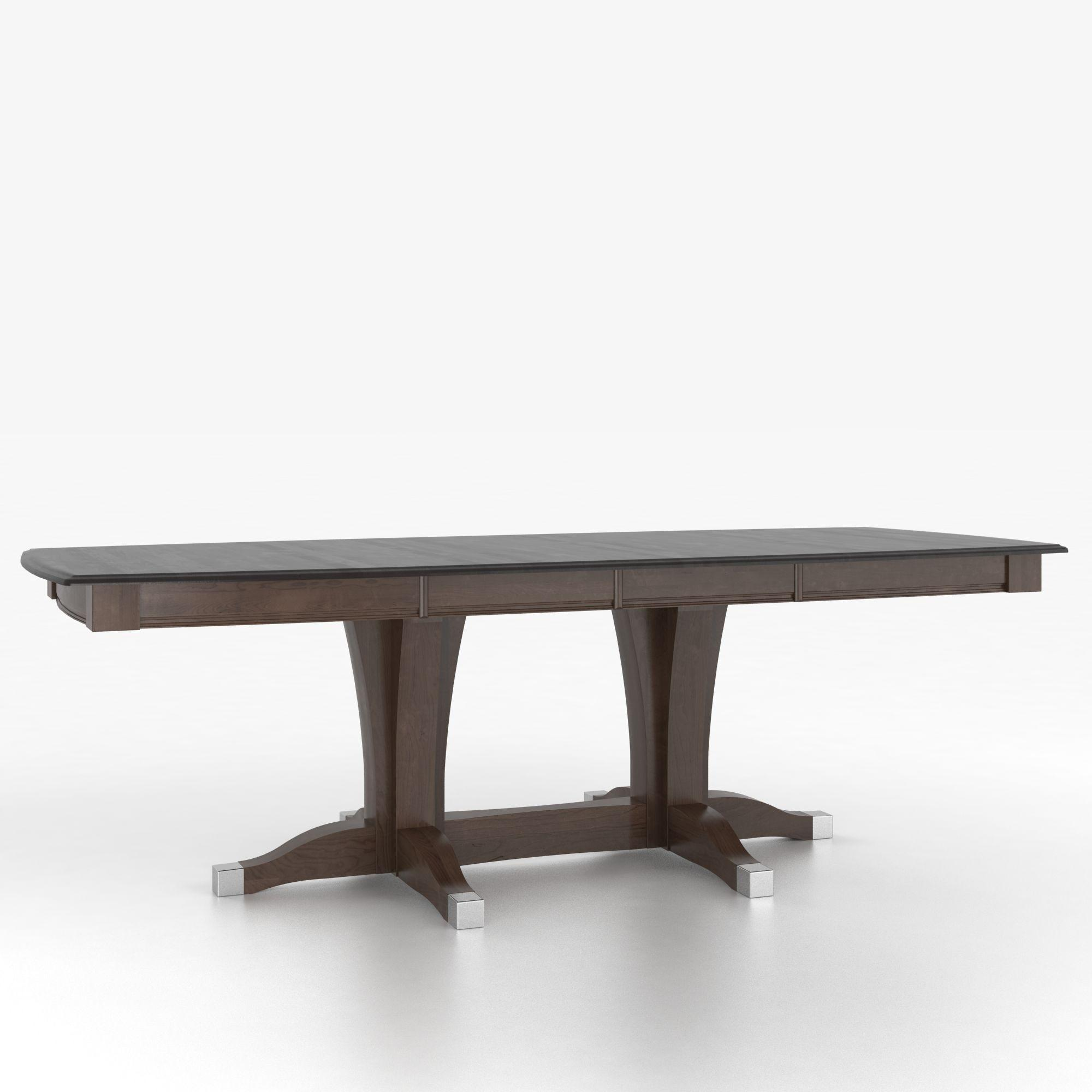 Canadel Custom Dining Tables Tbs038683429mxaa2 Customizable Boat Shape Table With Pedestal