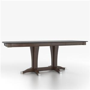 Canadel Custom Dining Tables Customizable Boat Shape Counter Table