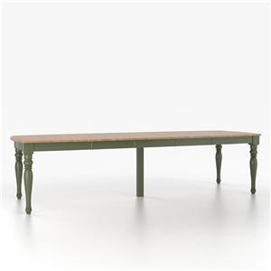 Canadel Custom Dining Tables <b>Customizable</b> Boat Shape Table w/ Legs