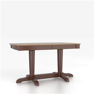 Canadel Custom Dining Counter Height Tables Customizable Boat Shape Counter Table