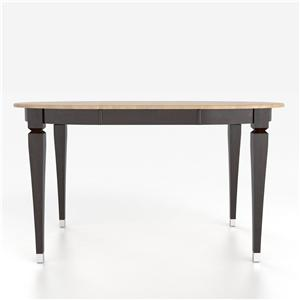Canadel Custom Dining Counter Height Tables Customizable Oval Counter Table with Legs