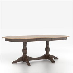 Canadel Custom Dining Tables Customizable Oval Table with Base