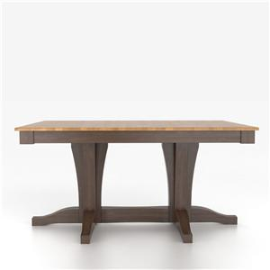 Customizable Rectangular Table with Pedestal