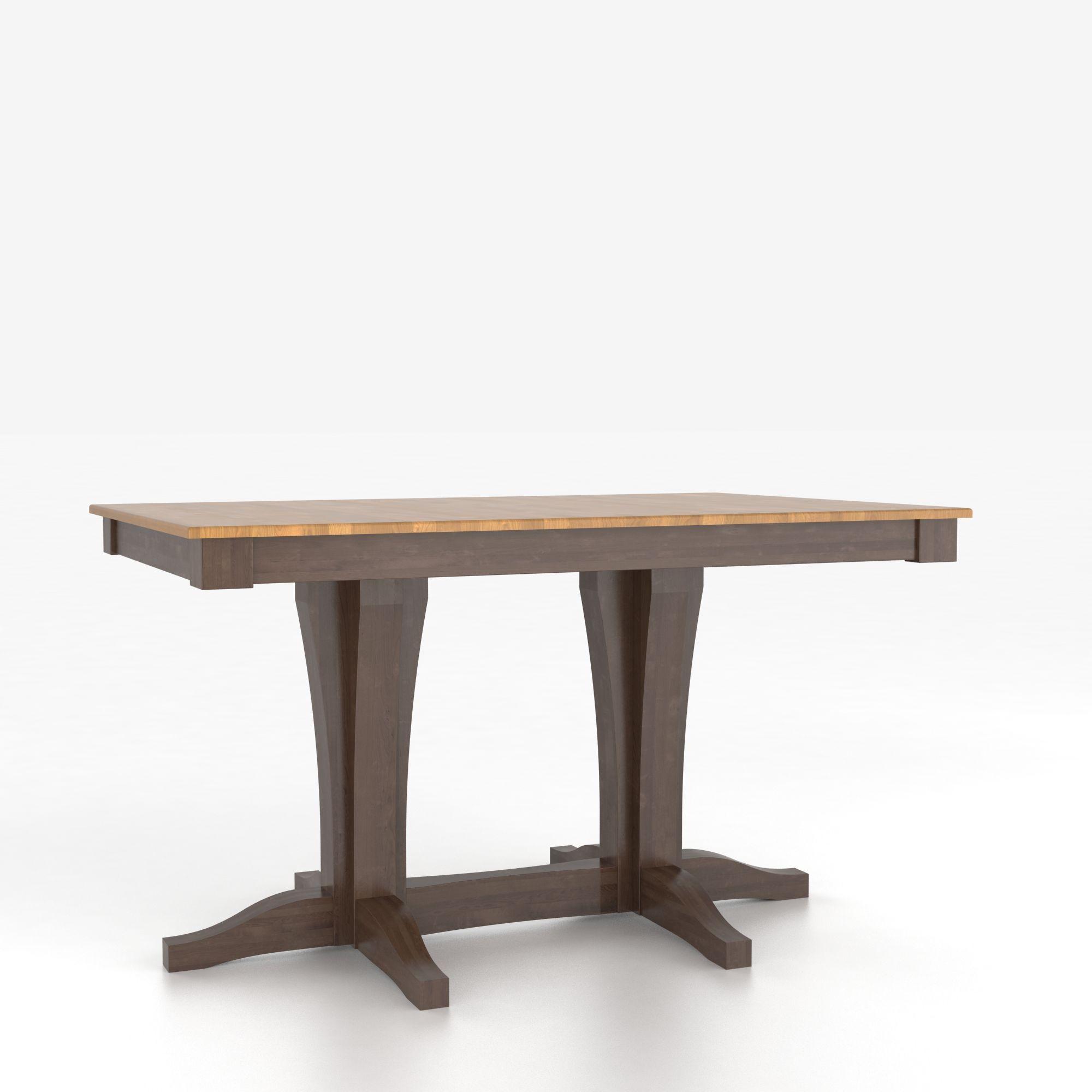 Canadel custom dining tables customizable rectangular for Custom dining room tables
