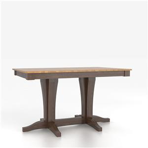 Canadel Custom Dining Tables Customizable Rectangular Counter Table