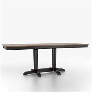 Canadel Custom Dining Counter Height Tables Customizable Rectangular Table with Pedestal