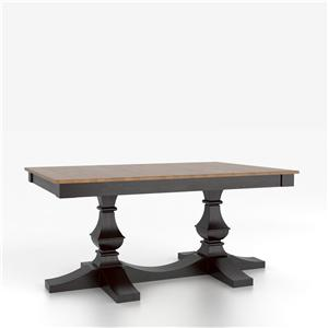 Canadel Custom Dining Tables Customizable Rectangular Table w/ Pedestal