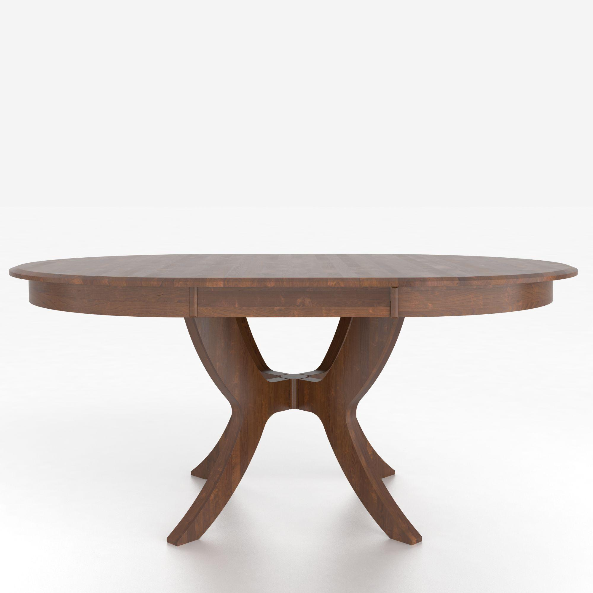 Customizable Round Table with Pedestal