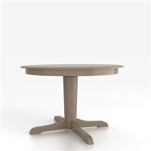 Canadel Custom Dining Counter Height Tables Customizable Round Counter Table w/ Pedestal