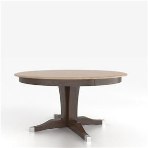 <b>Customizable</b> Round Table w/ Pedestal