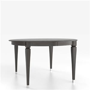 Canadel Custom Dining Counter Height Tables Customizable Round Counter Table with Legs