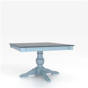 <b>Customizable</b> Square Table w/ Pedestal