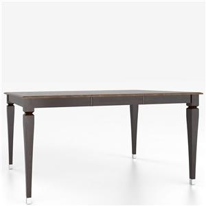 Canadel Custom Dining Counter Height Tables Customizable Square Counter Table with Legs
