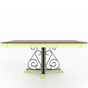 Customizable Square Table with Pedestal